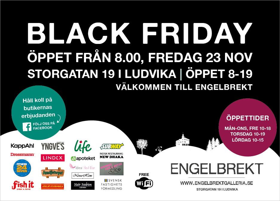 Missa inte Black Friday 23 november