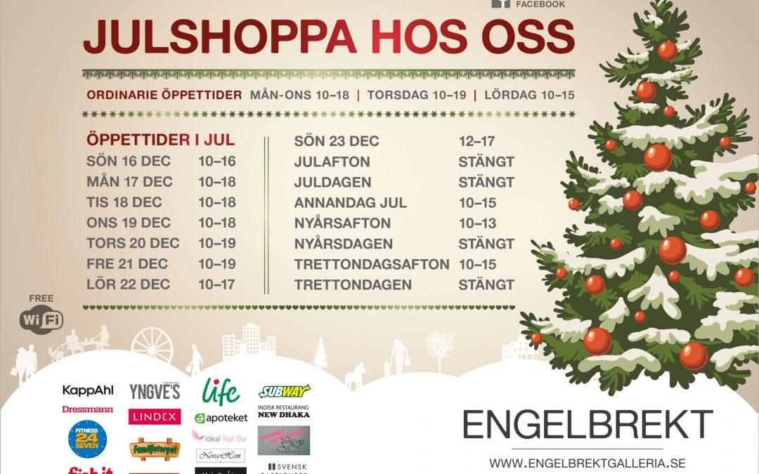 Julshoppa hos oss i Engelbrekt Galleria