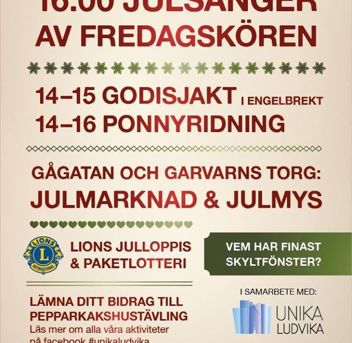 Skyltsöndag 1 december 2019